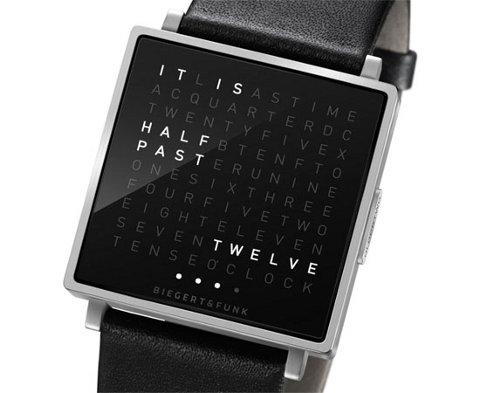 Qlocktwo W, el reloj que usa letras en lugar de números
