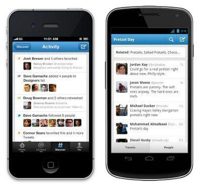 Twitter actualiza su app para iPhone y Android