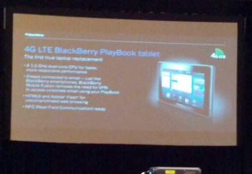 Blackberry Playbook 4G confirmado
