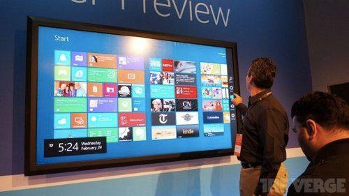 Microsoft planea vender una gigantesca pantalla touch de 80 pulgadas con Windows 8