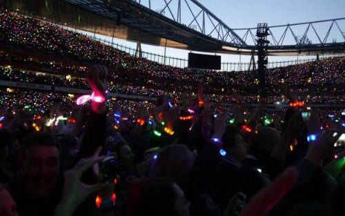 Coldplay transforma a la audiencia con las Xylobands