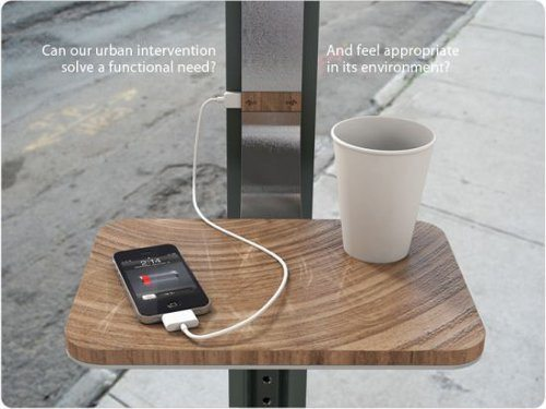 Diseñadores quieren convertir columnas y postes en estaciones para cargar nuestros móviles