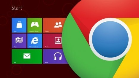 Google Chrome estará en Windows 8