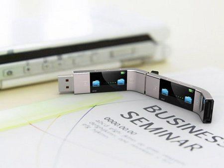 U Transfer, una memoria flash que puede ser conectada con otra memoria flash