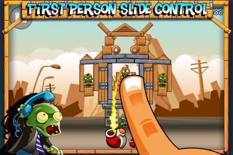 Bomb the Zombies, un juego similar a Angry Birds, pero con zombies