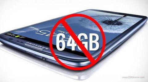 El Galaxy S3 de 64GB ha sido cancelado