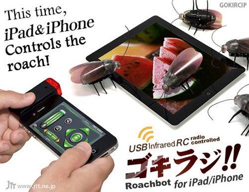 Roachbot, la cucaracha robótica que podemos controlar con nuestro iPhone