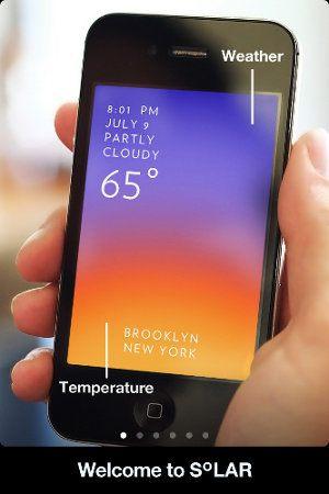 Solar, una aplicación bonita, simple y útil para saber el estado actual del tiempo