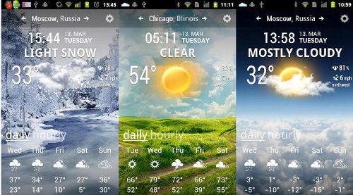 Weather Flow, una genial app sobre el tiempo para Android