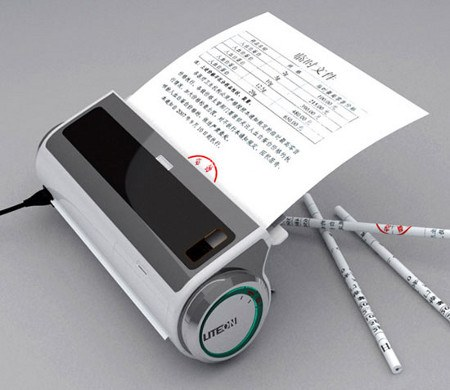 Este dispositivo crea lápices a partir de hojas de papel