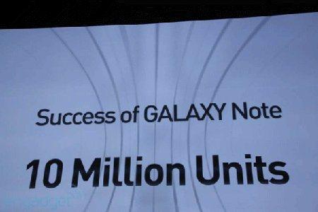 Galaxy Note llega a los 10 millones de unidades vendidas