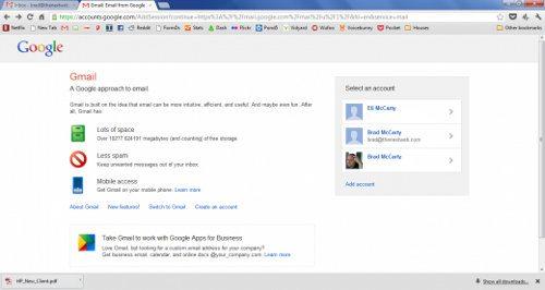 Google prueba nueva página de inicio de sesión para Gmail
