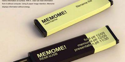 MEMOME, una memoria flash con pantalla de tinta electrónica