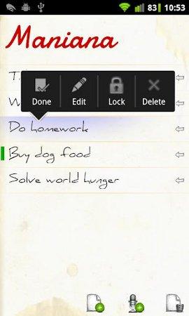 Maniana, una nueva app de tareas a realizar