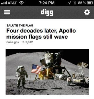 Nueva app de Digg para iPhone