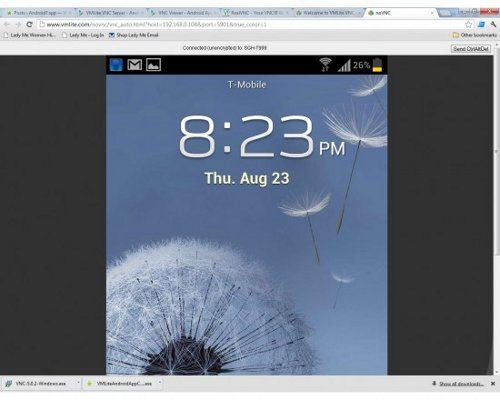 VMLite VNC Server controla tu dispositivo Android desde tu computadora