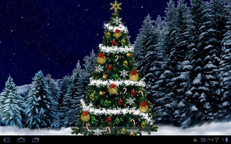Christmas Tree Live Wallpaper para tu Android