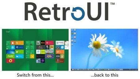 RetroUI te permite transformar la interfaz de Windows 8 en la interfaz de escritorio clásica