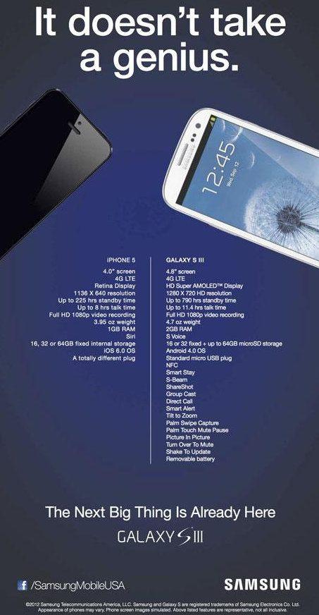 Una pequeña comparación entre el iPhone 5 y el Galaxy S3