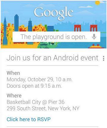 Google organiza un evento Android para el 29 de octubre