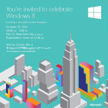Microsoft ha enviado las invitaciones para la presentación de Windows 8