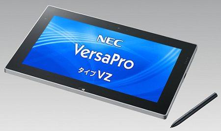 NEC VersaPro Type VZ, nuevo tablet Windows 8 de gama alta