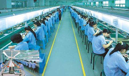 Trabajadores de Foxconn en huelga
