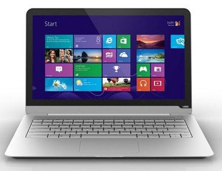 Vizio estrena tres laptops con Windows 8