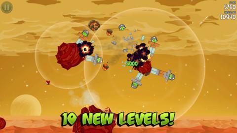 Angry Birds Space actualizado con 10 nuevos niveles