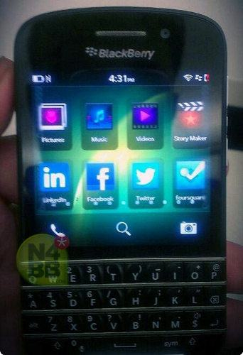 Más imágenes del nuevo BB10 con teclado QWERTY