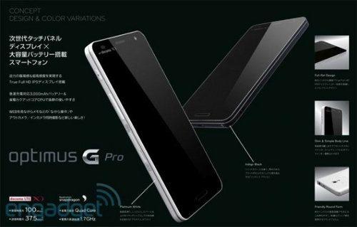 Imágenes y detalles del LG Optimus G Pro