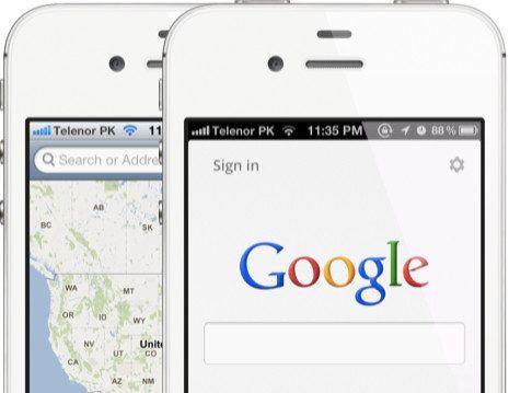 Las apps de Google dominan en iOS