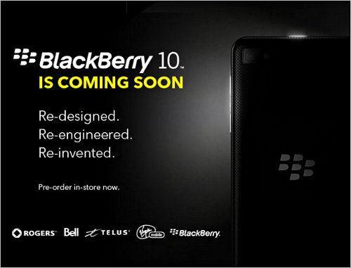 Smartphones BlackBerry 10 ya pueden ser pre-ordenados en Canadá