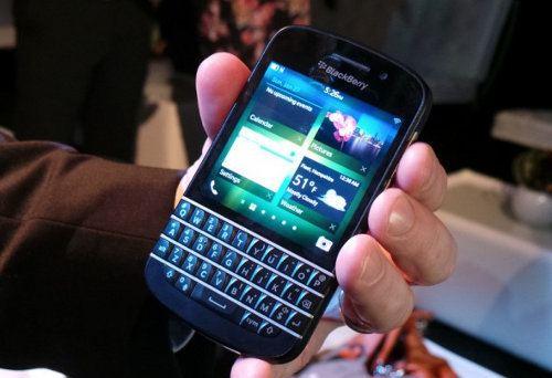 Detalles del BlackBerry Q10