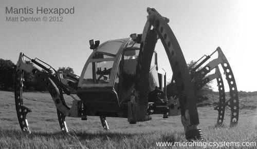 Mantis, un terrorífico robot todo terreno de 6 piernas