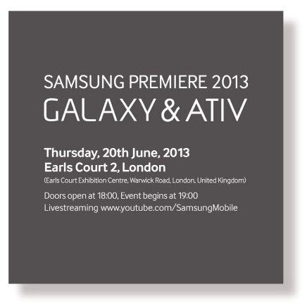 Samsung envía invitaciones para un nuevo evento en Londres
