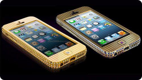 Nuevos modelos de iPhone 5 cubiertos de diamantes y oro