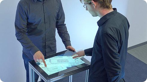 Esta pantalla touch es capaz de reconocer huellas dactilares