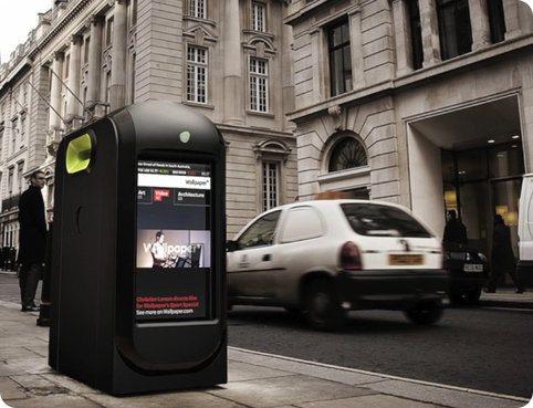 Contenedores de basura de moderna tecnología mostrarán publicidad