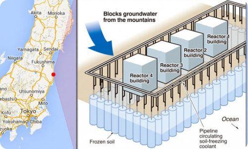 Japón podría construir un muro de hielo gigante alrededor de la central de Fukushima