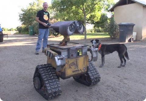 Mira este adorable Wall-E de tamaño real y a control remoto