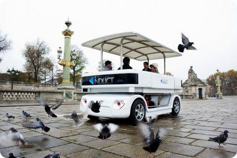 Navia nuevo vehículo eléctrico sin conductor para el transporte de pasajeros