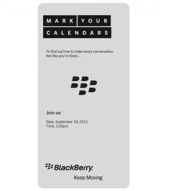 BlackBerry anuncia un evento para el 18 de septiembre