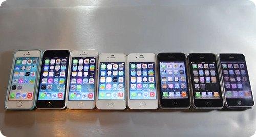 Comparación de la velocidad de los 8 modelos del iPhone
