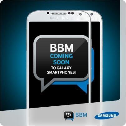 Samsung promociona BBM para Android