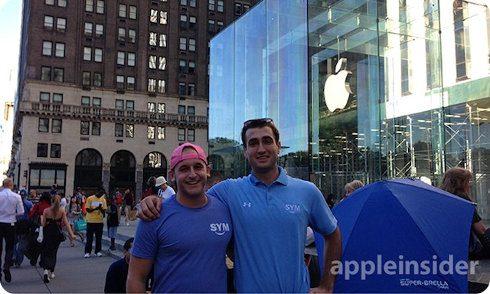 Ya se están formando filas en la tienda de Apple en New York