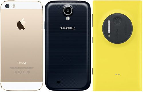 iPhone 5S vs. Galaxy S IV vs. Lumia 1020