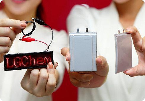 LG está produciendo baterías que pueden doblarse y mojarse