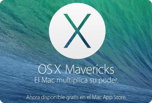 OS X Mavericks es una actualización gratuita