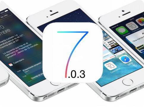 iOS 7.0.3 ya está disponible